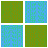 Green Blue Squares Kidifexs Wall Stickers