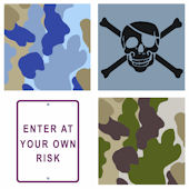 Neutral Risk Camo Kidifexs Wall Stickers