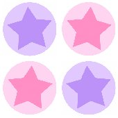 Star Circles Kidifexs Peel and Stick Wall Sticker