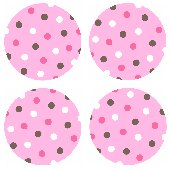 Pink Polka Dots Kidifexs Peel and Stick Stickers