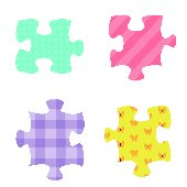 Puzzle Pieces Kidifexs Peel and Stick Stickers