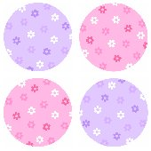 Flower Polka Dot  Kidifexs Peel and Stick Stickers
