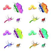 Insect Butterflies Kidifexs Peel and Stick Sticker