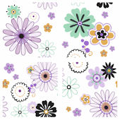Daisy Flowers Kidifexs Wall Stickers