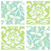 Green and Blue Floral Decorifex Wall Sticker