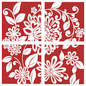 Red Full Floral Decorifex Wall Sticker