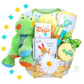 Personalized Froggy Fun At The Pond Gift Basket