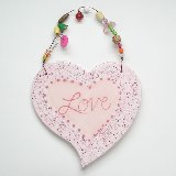 Hand Painted Love Plaque
