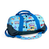 Olive Kids Trains Planes and Trucks Duffle bag