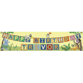 Animals Birthday Banner