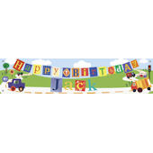 Transportation Birthday Banner