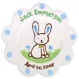 Bunny Boy Personalized Plate