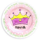 Crown Girl Personalized Plate