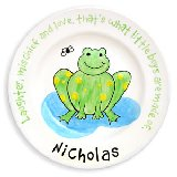 Frog Personalized Plate