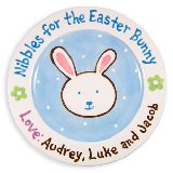 Nibbles for the Easter Bunny Personalized Plate
