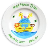 Noahs Ark Boy Personalized Plate