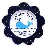 Whale Boy Personalized Plate