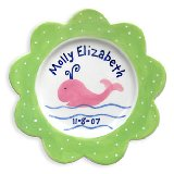 Whale Girl Personalized Plate