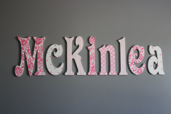 A Charmed Life Mckinlea Wooden Wall Letter