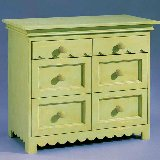 Scallop Collection Six Drawer Dresser