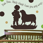 Baa Baa Black Sheep Boy Wall Sticker Decal