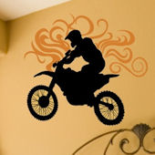 Dirt Bike Wall Decal Sticker