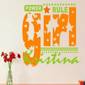 Girls Rule Wall Decal Sticker