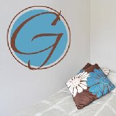 Lime Truffle Monogram Wall Decal Sticker