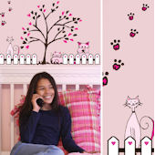 Art Applique Cats and Dogs Wall Sticker