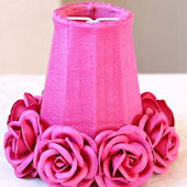 Hot Pink Chandelier Or Sconce Shade With Roses