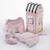Welcome Home Baby 3 Piece Layette Set PINK