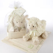 Love Ewe Plush Lamb and Lovie Gift Set