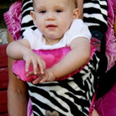 Zoe Zebra Baby Carrier