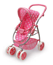 Six Wheel Doll Travel System Stroller and Carrier