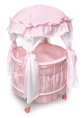 Royal Pavillion Round Doll Crib and Canopy Bedding