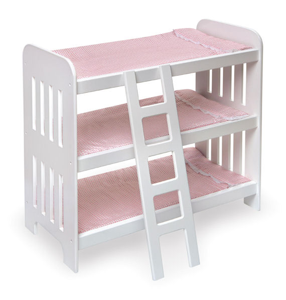 Triple Doll Bunk Beds With Ladder