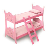 Blossom and Butterflies Doll Bunk Beds