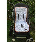 All Star Orange  Reversible Stroller Liner
