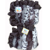 Baby Jakes Mixed Black Leopard Blanket