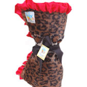 Baby Jakes Ruffled Chic Leopard Blanket