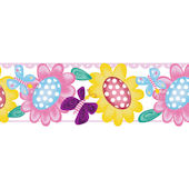 Butterfly Garden Peel and Stick Wall Border