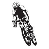 Bicycler  Midnight  Sudden Shadows Wall Decals