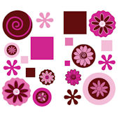 Chocolate Swirl Wall Sticker Appliques