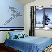 Skier - Sudden Shadows Wall Decals