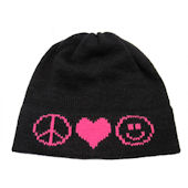 Personalized Peace Sign Heart Smiley Face  Hat