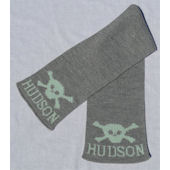 Personalized Skull and Crossbone Scarf