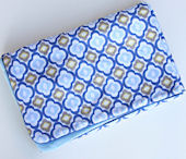 Ikat Blue Mod Piped Blanket