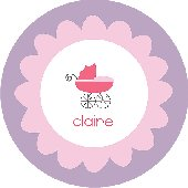 Girl Baby Carriage Personalized Dinnerware