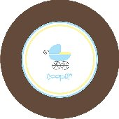 Boy Baby Carriage Personalized Dinnerware