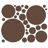 Chocolate Brown 25 Peel and Stick Wall Stickers